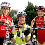 Children and police officer with bikes