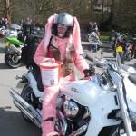 Fiona Beavan in biker bunny outfit