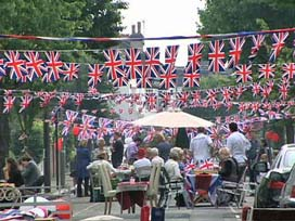 A street party for the Royal wedding last year