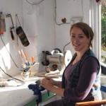 Carli Porter in her studio