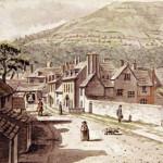 A watercolour of Monk Street in 1784 by Joshua Gosselin