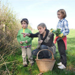 Adele with two young foragers-in-the-making.