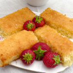 Coconut Slice with Lemon syrup