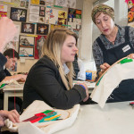 Local artist Amanda Caines works with pupils of King Henry VIII school